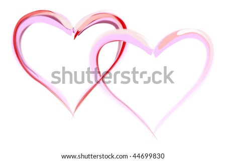 Illustration of heart, ideal for valentines card or related themes. - stock photo