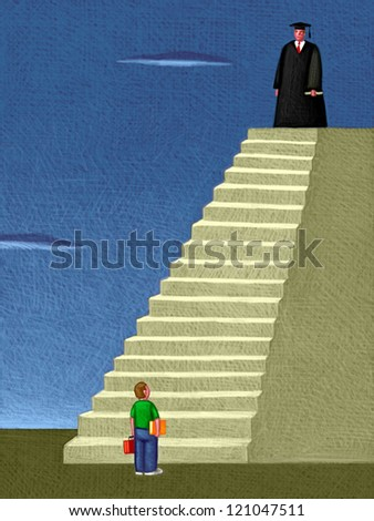 illustration of Higher Education - stock photo