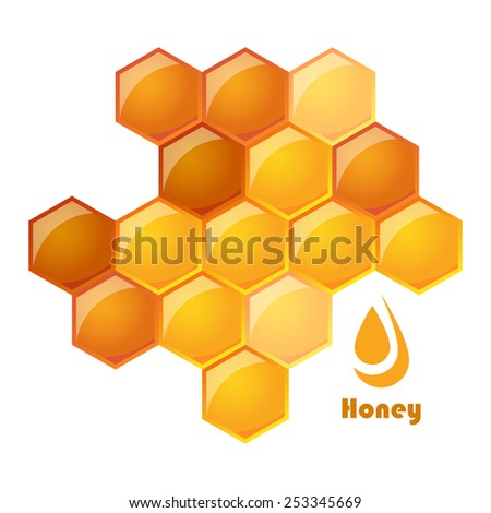 illustration of honeycomb - stock photo