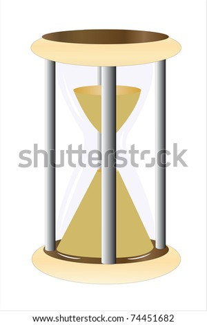 illustration of hourglass under the white background
