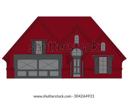 Illustration of house - stock photo