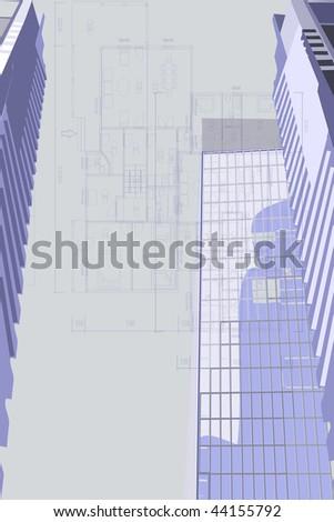 Illustration of house family plan. - stock photo