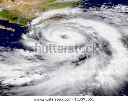 Illustration of hurricane Patricia over the Pacific. Elements of this image furnished by NASA