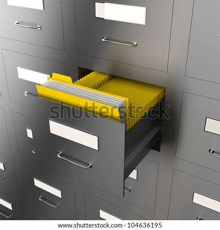 illustration of information search metaphor - stock photo
