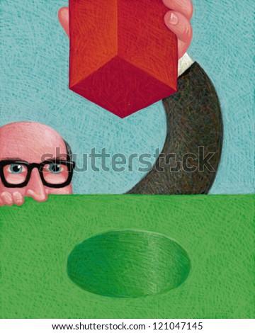 illustration of IQ - stock photo