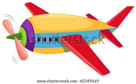 illustration of isolated airplane on white background - stock photo