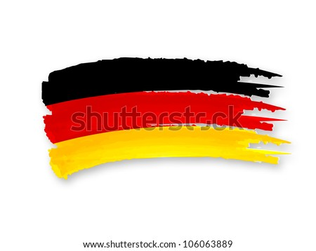 Illustration of Isolated hand drawn German flag - stock photo