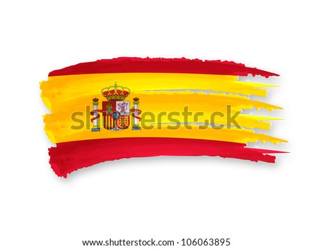 Illustration of Isolated hand drawn Spanish flag - stock photo