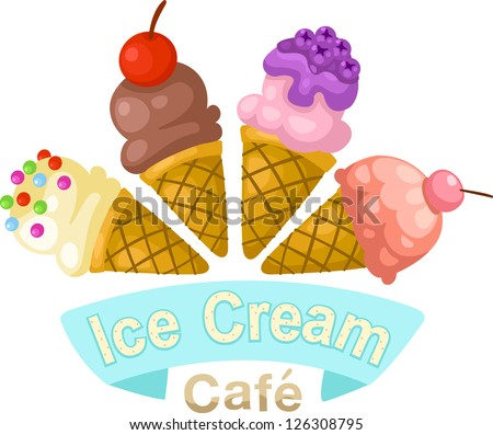 illustration of isolated ice cream cone . jpg (EPS vector version id 126059237,format also available in my portfolio) - stock photo