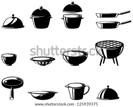 illustration of isolated  kitchen tools set .JPG (EPS vector version id 125269055,format also available in my portfolio) - stock photo