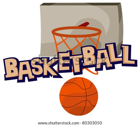 illustration of isolated letter of basketball on white background - stock photo