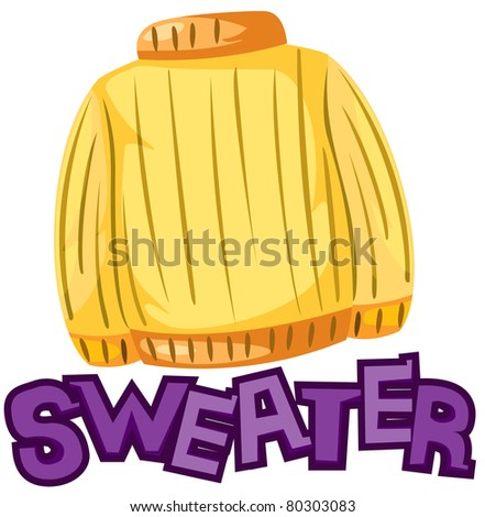 illustration of isolated letter of sweater on white background - stock photo