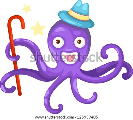 illustration of isolated octopus .JPG (EPS vector version id 125256104,format also available in my portfolio) - stock photo