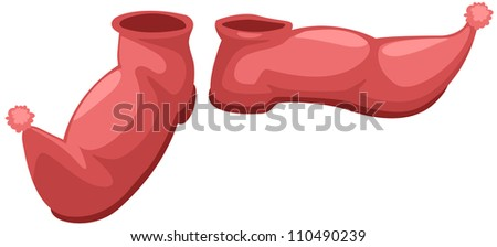 illustration of isolated red shoes on white background