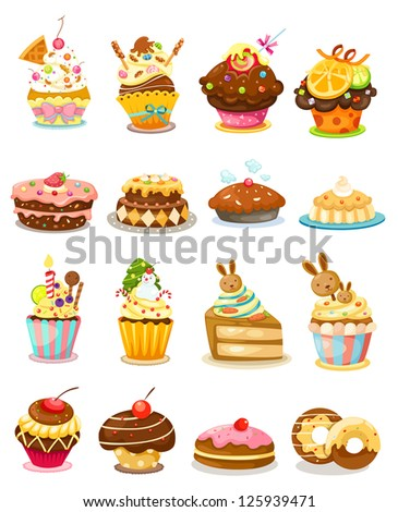 illustration of isolated set cupcake.JPG (EPS vector version id 125269103,format also available in my portfolio) - stock photo