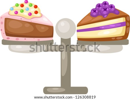 illustration of isolated sliced cake . jpg (EPS vector version id 126059240,format also available in my portfolio) - stock photo