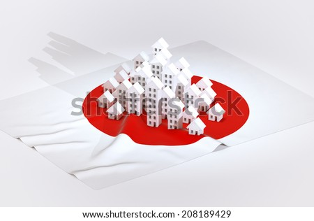Illustration of japanese real-estate development  - stock photo