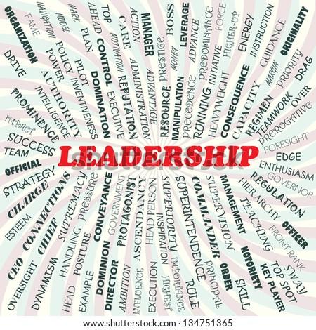 illustration of leadership concept - stock photo