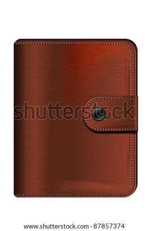 Illustration of leather wallet - isolated on white