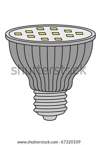 Illustration of LED lamp - stock photo
