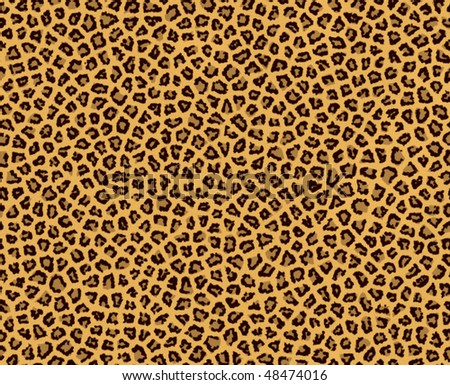 Illustration of leopard fur, seamless - stock photo