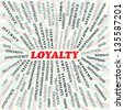 illustration of loyalty concept. - stock photo