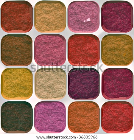 Illustration of make up. A seamlessly tiling texture. - stock photo