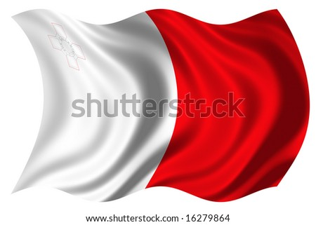 illustration of malta flag