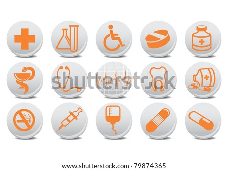 illustration of medecine buttons .You can use it for your website, application or presentation - stock photo