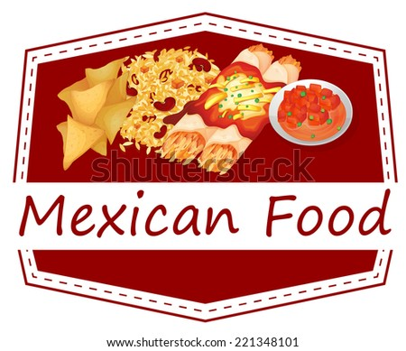 Illustration of Mexican food  - stock photo