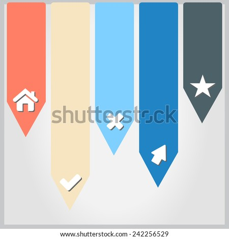 Illustration of modern design template - stock photo