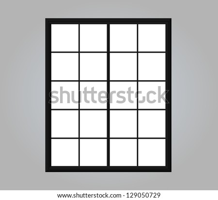 Illustration of Modern residential window. Can be overlapped on any picture - stock photo