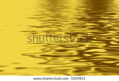 Illustration of molten gold to look like a lake - stock photo