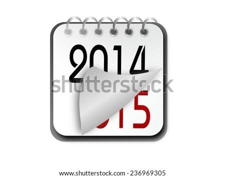 Illustration of new year calendar - stock photo