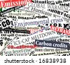 Illustration of newspaper headlines on an environmental theme - stock vector
