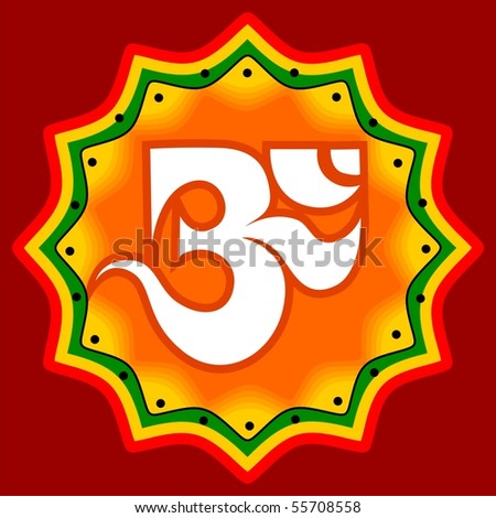 Illustration of ohm symbol in colour background - stock photo