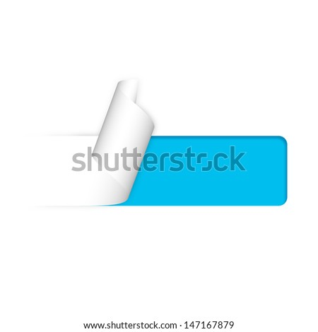 illustration of paper sticker - stock photo