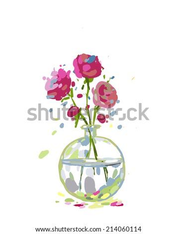 Illustration pink flowers glass vase cartoon stock illustration illustration of pink flowers in a glass vase cartoon mightylinksfo