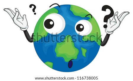 illustration of planet earth on a white background - stock photo