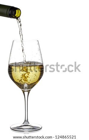 Illustration of pouring a wine - stock photo