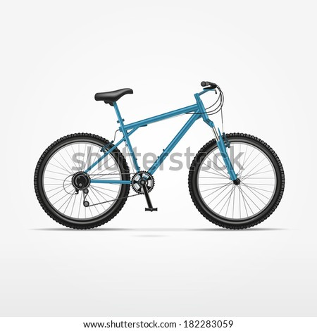 Illustration of Realistic Bicycle