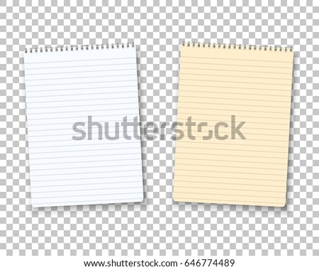 Illustration Realistic Vector Paper Notepad Notebook Stock Vector