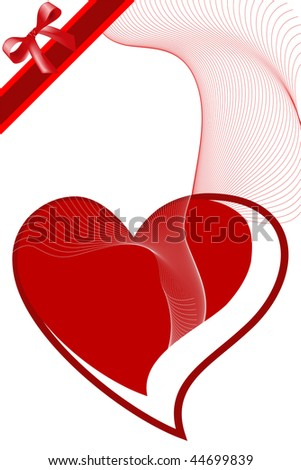 Illustration of red icon heart, ideal for valentines card or related themes. - stock photo