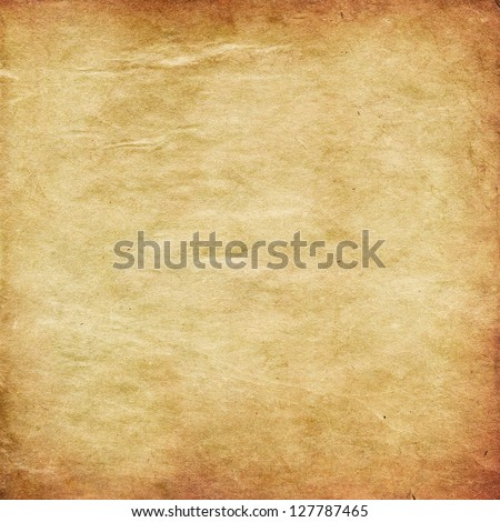 Illustration of retro grunge yellow paper texture background.