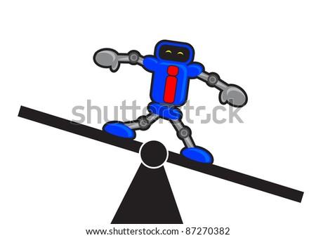 illustration of robotic businessman - stock photo