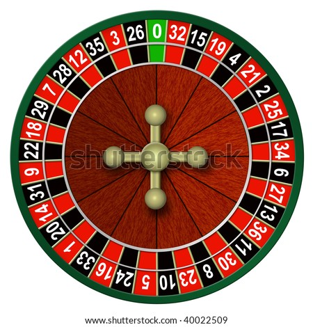 Illustration of roulette on a white background