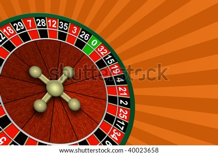 Illustration of roulette on an abstract background