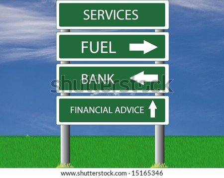 Illustration of services sign hinting at high fuel prices - stock photo
