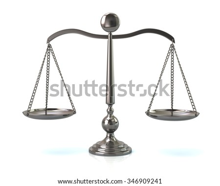Illustration of silver scales on white - stock photo