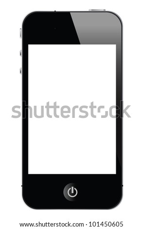 illustration of smart phone, vector format. - stock photo